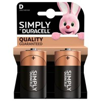 Pile duracell simply d x2