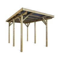 Carport voiture evolution - 18 m² - 5.20 x 3.00 x 2.44 m