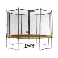 Trampoline funni pop 430 + filet - 4 pieds
