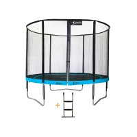 Trampoline punchi 300 atoll - filet + échelle - 3 pieds