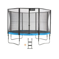 Trampoline punchi 360 atoll - filet + échelle - 4 pieds