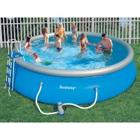 Piscine gonflable et autoportante for Piscine ronde plastique