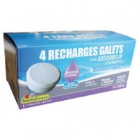 Recharge absorbeur - lot de 4 - lavande - 500 g