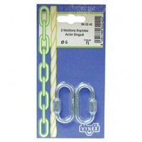 Maillon rapide - lot de 2 - d: 3.5 mm