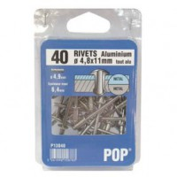 Rivet aluminium - d: 4 mm - 10 mm - lot de 50