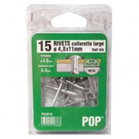 Rivet aluminium - d: 4 mm - 10 mm - lot de 30