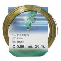 Fil attache - laiton - 0.6 mm - 20 m