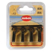 Agrafe simple - lot de 12 - marron - d: 35 mm