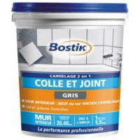 Colle et joint carrelage - gris - 1.5 kg