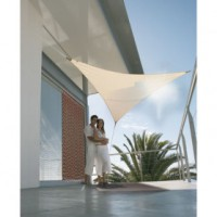 Voile ombrage triangulaire serenity - 5x5 m - sable