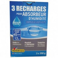 Recharge absorbeur 350 g lot de 3
