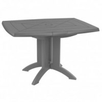 Table de jardin vega pliante 118x77 cm - anthracite