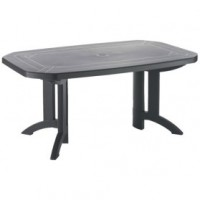 Table de jardin vega - 165/220x100 cm - anthracite