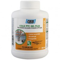 Colle pvc gel plus - pot 500 ml