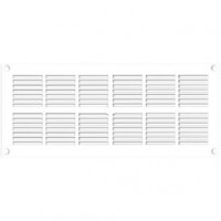 Grille ventilation rectangle extra-plate l : 254 x 110 mm - blanc