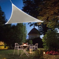 Voile ombrage trangulaire - 3.6x3.6 m - leds int