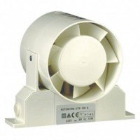 Ventilateur de gaine avec support - d: 100 mm