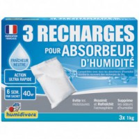 Recharge absorbeur 1kg - lot de 3