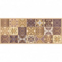 Tapis boston - 50x120 cm - carreaux de ciment bronze