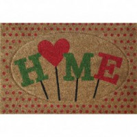Tapis coco home coeur - 40x60 cm