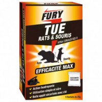 Sachet raticide et souricide - 6x25 g