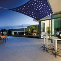 Voile ombrage rectangulaire - 3x2 m - leds int