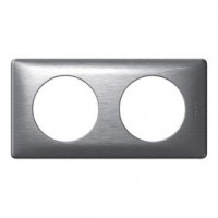 Plaque celiane - 2 postes - 71 mm - aluminium