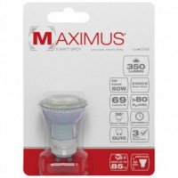 Led spot glass maximus gu10 5w 350lm 3000k blanc chaud