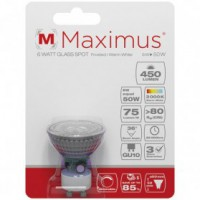 Led spot maximus dim.gu10 6w 450lm 3000k chaud