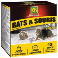 Home defense rat souris blocs 12x20g /nc