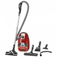Aspirateur sac silence force compact rouge