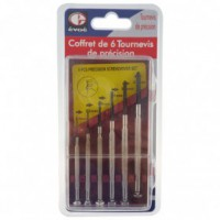 Coffret 6 tournevis de precision
