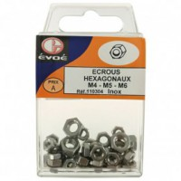 Ecrou hexagonale inox assortis