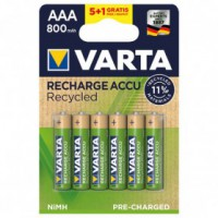 Accus lr3 aaa 800 mah 5+1 gratuit recycled