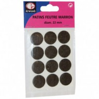 Patin feutre 22mm marron