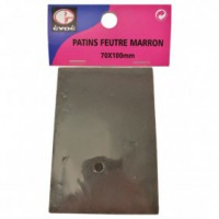 Patins feutre 70x85mm marron
