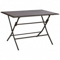 Table bayonne pliante anthracite