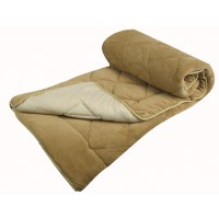 Couvre lit veloura boutis piqué sherpa 90grs - beige/creme - 240x260