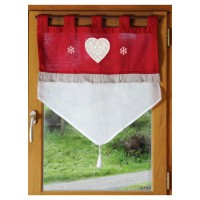 Brise bise style campagne chic - rouge - 60 x 60 cm