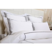 Taie oreiller percale 80 fils bourdon - anthracite - 50 x 70 cm