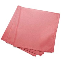 Lot de 3 serviettes de table unies - corail - 40 x 40 cm