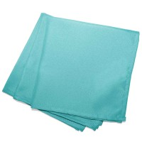 Lot de 3 serviettes de table unies - menthe - 40 x 40 cm