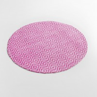 Set de table rond ethnique - fuchsia - (0) 38 cm