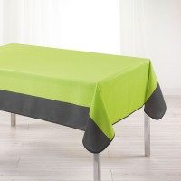 Nappe rectangulaire bicolore - menthe/anthracite - 150 x 240 cm