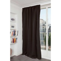 Rideau phonique occultant et thermique moondream galon fronceur - marron - 140 x 260 cm