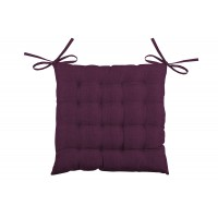 Galette de chaise unie en 16 points - burgundy - 40 x 40cm