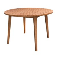 Table ronde en acacia - naturel - 110.00 x 75.00 cm