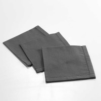 Ensemble de 3 serviettes de table unies - anthracite - 40 x 40cm
