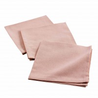 3 serviettes de tables unies - rose - 40 x 40cm