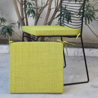 Galette de chaise outdoor antibes - anis - 40 x 40cm